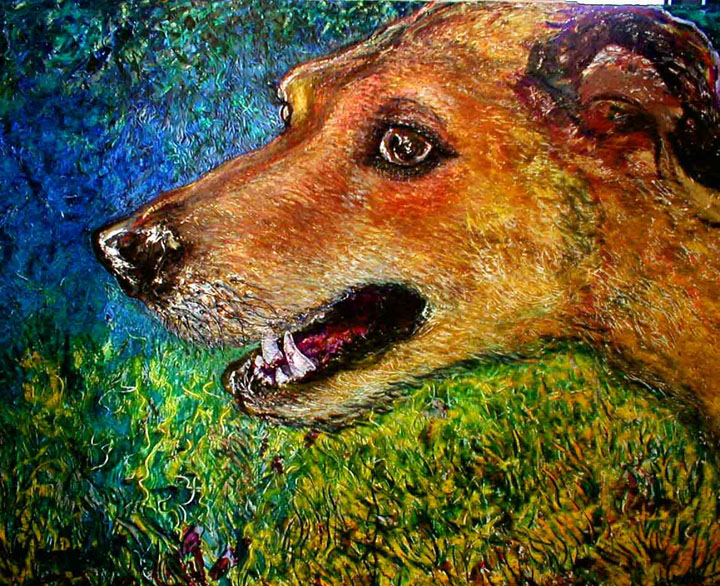 A painting of a Dog
